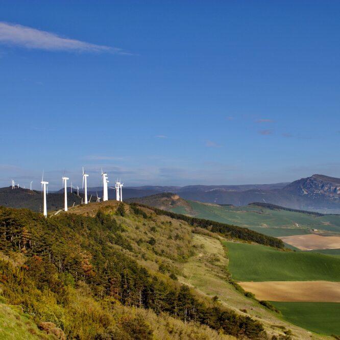 windmills on hill
